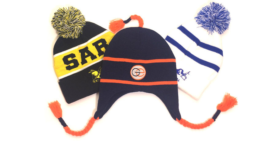 Custom Knit Snow Hats Designs